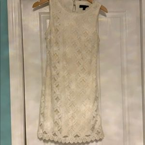 City Triangles  Off White Lace Sheath Dress Size S